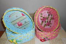 MOJE TVOŘENÍ / pletení z papíru a jiné