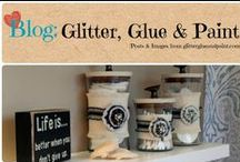 Blog: Glitter, Glue & Paint / Where real life inspiration, décor, ideas, and a refreshing approach to organizing happens. / by Denyse {Glitter Glue & Paint}