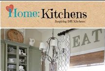 Home: Kitchens / Inspiring DIY Kitchens with inspirational decorating ideas.  / by Denyse {Glitter Glue & Paint}