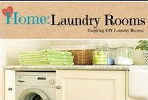 Home: Laundry Rooms / Inspirational decor and DIY ideas for any sized laundry area of the home.  / by Denyse {Glitter Glue & Paint}