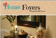 Home: Foyers / Inspiring DIY, decorative home foyers and entrances.  / by Denyse {Glitter Glue & Paint}
