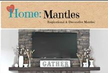 Home: Mantles / Inspirational decorative mantles. / by Denyse {Glitter Glue & Paint}
