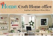 Home: Craft/Home Office / Home Office and/or Craft room DIY decor ideas and inspiration. / by Denyse {Glitter Glue & Paint}