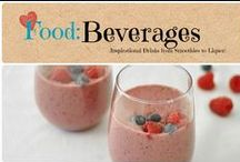 Food: Beverages / Inspirational Beverages from healthy smoothies to bad for you liquor.  / by Denyse {Glitter Glue & Paint}