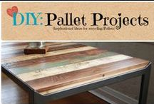DIY: Pallet Projects / Inspirational ideas for recycling pallets.  / by Denyse {Glitter Glue & Paint}