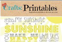 Crafts: Printables / Inspirational printable's for any occasion.