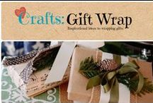 Crafts: Gift Wrap / Inspirational ideas to wrapping gifts.  / by Denyse {Glitter Glue & Paint}