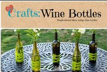 Crafts: Wine Bottle / Inspirational crafts and home decor using wine bottles. / by Denyse {Glitter Glue & Paint}
