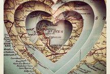 ~ maps & globes ~ / by D I N Y ➕