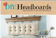 DIY: Headboards / Inspirational ideas for making Do-it-Yourself headboards.  / by Denyse {Glitter Glue & Paint}