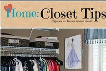 Home: Closet Tips / Tips for a more organized closet without breaking the bank. Use what you have! / by Denyse {Glitter Glue & Paint}