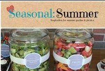 Seasonal: Summer / Inspiration for summer parties & picnics