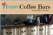 Home: Coffee Bars / Inspirational Coffee Bars for your home.  / by Denyse {Glitter Glue & Paint}