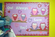 Valentines day crafts & bulletin boards