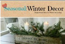 Seasonal: Winter Decor / Inspirational ideas for winter decorating