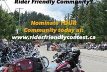 Canada's Most Rider Friendly Community Contest / Belt Drive Betty & The Busted Knuckle Chronicles search for Canada's Most Rider Friendly Community!
