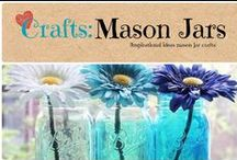 Crafts: Mason Jars / Inspirational crafting ideas using Mason jars. / by Denyse {Glitter Glue & Paint}