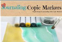 Journaling: Copic Markers / Inspiration for journaling with Copic Markers / by Denyse {Glitter Glue & Paint}