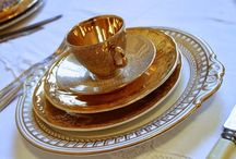 Gold Fancy Vintage china love