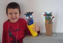 children's crafts - má dílna / Má dílna v mateřském centru - co a jak tvoříme.