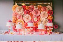 Orange inspired wedding
