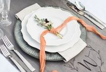 WEDDING PLACE SETTINGS & TABLESCAPES / Create a beautiful tablescape for your guests.