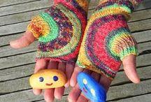★ Vingerloos / Vingerlozen handschoenen, mittens.