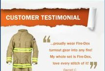 Customer Testimonials / Actual customer reviews from Fire-Dex firefighters.
