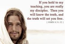 """thy word is truth.""John 17:17 / Jesus prayed, in John 17:17:  ""Sanctify them through thy truth: thy word is truth."" Growing in Christ: Seeking Jesus / by Gina Marie Shiah"
