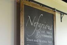 tasting room / Nefarious Cellars on the south shore of Lake Chelan, Washington.
