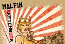 Sketchbook Malfin #1 / http://bit.ly/shop-skmalfin