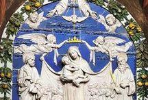 Andrea della Robbia. / Очаровательные рельефы Andrea della Robbia.
