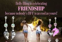 """BFF Belly Rings / """"There is flattery in friendship."""" -William Shakespeare"""
