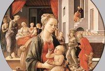 Фра Филиппо Липпи (1406 - 1469), также называемый Липпо Липпи, итал. художник кватроченто (15 век). / В 1420 он был принят в сообщество кармелитов монахов Монастыря Богоматери горы Кармель во Флоренции, принял религиозные обеты в Ордене в следующем году, в возрасте шестнадцати лет.