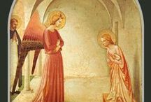 Монастырь Сан-Марко.  Флоренция /  В 1437 Козимо Il Vecchio Медичи решил перестроить весь комплекс, по предложению Antonino Pierozzi викария. Работа была поручена Микелоццо, и оформление стен проводилось с 1439 по 1444 г. Джованни Фьезоле, известному  как Фра Анджелико, и его помощниками, среди которых был  Беноццо Гоццоли. Церковь была освящена в 1443 году.