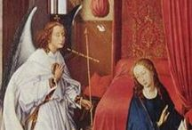 Роджер ван дер Вейден 1399/1400 - 1464 / Ван дер Вейден использовал в основном религиозные темы. Он никогда не подписывал свои работы, так что искусствоведы до сих пор пытаются определить его авторство. Для его работ характерна  прозрачная  композиция и  использование цветов, в которых он включил много символики.