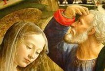 Santa Trinita. Флоренция. / Фрески Гирландайо в Капелле Сассетти (справа от главного алтаря) показывают, как выглядела церковь в 1483-1486 гг. Алтарная роспись ПОКЛОНЕНИЕ ПАСТУХОВ (1485) также принадлежит Гирландайо. В ней он представил себя в образе пастуха.