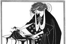 """БЁРДСЛИ, Бердслей (beardsley) Обри Винсент (1872, Брайтон – 1898, Ментона) / Английский график, иллюстратор, представитель стиля модерн. Горячими поклонниками Бёрдсли были русские художники из «Мира искусства». «Этот """"чёрный алмаз"""" как никто повлиял на формирование стиля модерн, – писал А. Н. Бенуа, – он умер в самом конце 19 в., оставив в наследство искусство, где всё создано для радости века 20...». Бёрдсли был непревзойдённым мастером детали, которую особо акцентировал, заставлял стать символом. Судьба отпустила ему всего 26 лет жизни."""