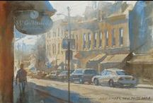 """Casein Painting / Plein-air studies in casein paint by """"Color and Light"""" author James Gurney"""