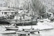 Pencil Sketching / Drawings made from life, on location