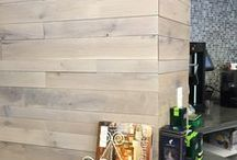 Reclaimed Wall Paneling / Reclaimed paneling we make for our clients.