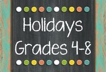 Holiday Resources Grades 4-8 : The Lesson Deli / http://thelessondeli.blogspot.com/