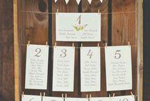 Schöne Sitzplan - Ideen für eure Hochzeit