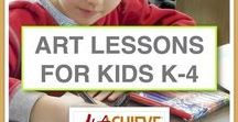 Art Lessons For Kids K-4 / Online art lessons for kids in grades K-4 that are inspired by interesting objects from around the world. Lessons include resources for unit studies and are designed so that kids who can read can follow the lessons on their own. Several FREE art lessons for kids!