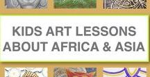 Art Lessons About Africa and Asia / Online art lessons for kids inspired by interesting objects from Africa and Asia. Lessons include resources for unit studies and are designed so that kids who can read can follow the lessons on their own.