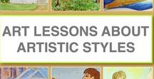 Art Lessons About Art & Artistic Styles / Online art lessons for kids inspired by famous artists and unique artistic styles. Lessons include resources for unit studies and are designed so that kids who can read can follow the lessons on their own.