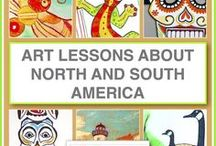 Art Lessons About North and South America / Online art lessons for kids inspired by interesting objects from North and South America. Lessons include resources for unit studies and are designed so that kids who can read can follow the lessons on their own.