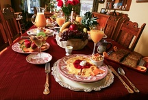 Breakfast at our Franklin Street Inn / I am posting photos of food & drink prepared at our inn.  I prep food from the  2 cookbooks that I published.
