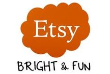 Etsy Board:  All things bright and fun! / This is a group board featuring fun, professional, & family-friendly Etsy items.  If you would like to become a Pinner, please re-pin or favorite 5 items from this board, and then send me a message through Pinterest