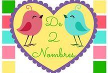 De 2 Nombres - Mi Blog